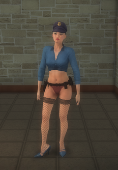 Stripper female - asian Cop - character model in Saints Row 2