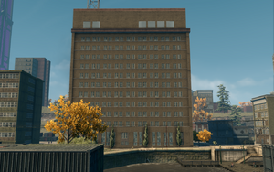 Abandoned office building - west side
