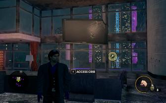 Saints HQ damaged TV