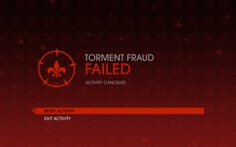 Gat out of Hell - Torment Fraud fail screen