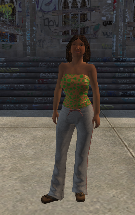 Generic young female 03 - blackTube - character model in Saints Row