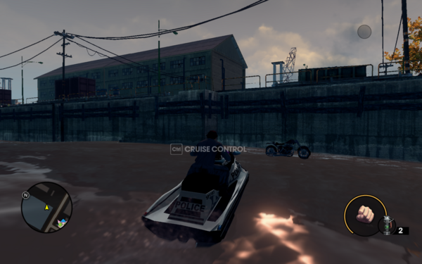Henry Steel Mills bike in boat spawn location
