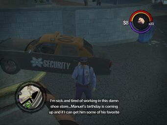 Saints Row 2 Chop Shop in Downtown District - start of message