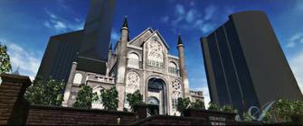 The Stilwater Memorial Church in The Anna Show cutscene in Saints Row 2