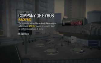 Company of Gyros in Tidal Spring purchased in Saints Row 2