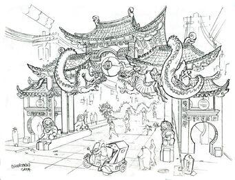 Little Shanghai Gate Concept Art
