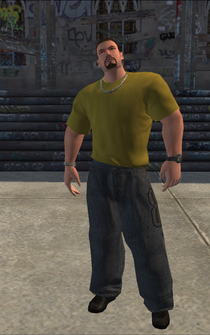 Vice Kings SDR test - character model in Saints Row