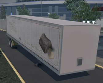 Flatbed trailer with Box - Liquers