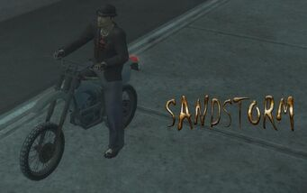 Sandstorm - front left with logo at night in Saints Row 2