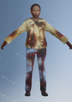 Zombie 05 - Rebecca - character model in Saints Row IV