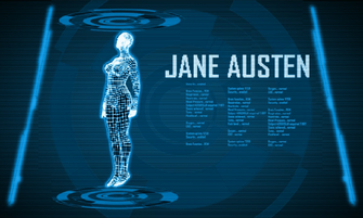 Jane Austen computer screen