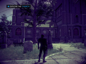 King Me - Explore the Church objective - graveyard