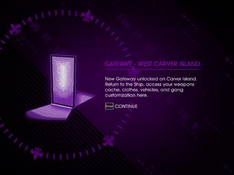 Gateway - West Carver Island Unlock screen
