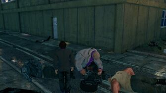 Oleg clearing a Minigun jam