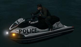 Steelport Police Shark - front left with lights