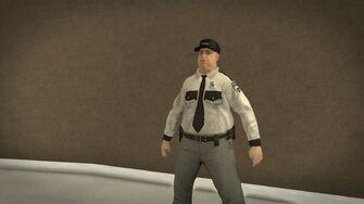 Stilwater Savings & Loan - fat security guard
