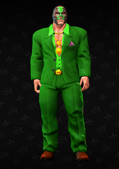 Killbane - green suit with mask - character model in Saints Row The Third
