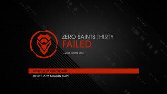 Zero Saints Thirty failure Cyrus