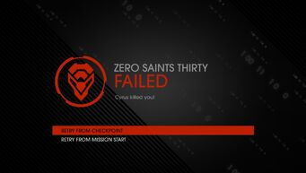 Zero Saints Thirty failure Cyrus