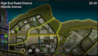Atlantis Avenue map in Saints Row