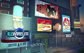 Brighton in Saints Row 2 - IllWireless billboard