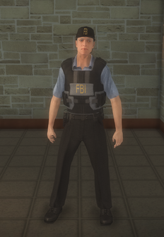 FBI - white - character model in Saints Row 2