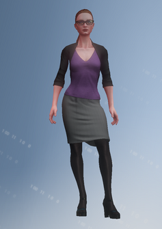 Kinzie - white house - character model in Saints Row IV