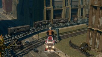 Broken Train in Loren Square in Saints Row The Third