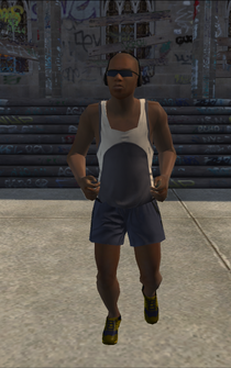 Jogger male - black - character model in Saints Row