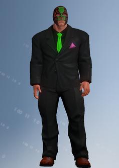 Killbane - black suit - character model in Saints Row IV
