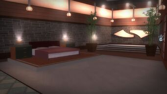 Tohoku Towers - room with bed