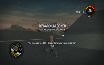 100% Music Store Discount unlocked in Saints Row 2
