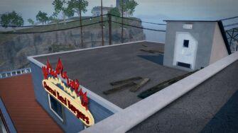Charred Hard Burgers - Stilwater Boardwalk rooftop entrance