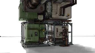 Saints Row Industrial Map - Machine Concept Art