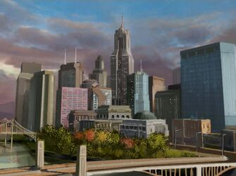 Stilwater - early Concept Art of Downtown