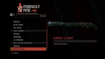 Weapon - Shotguns - Semi-Auto Shotgun - Full Choke Silenced - Green Camo