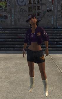 Aisha - character model in Saints Row