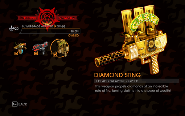 Gat out of Hell - 7 Deadly Weapons - Greed