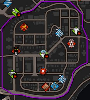 Rosen Oaks map in Saints Row IV