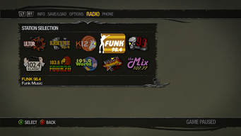 Saints Row 2 Radio Station description - Funk 98.4