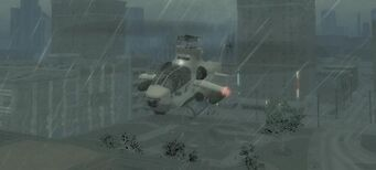 Tornado - front left in flight in Saints Row 2