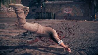 Combat in Saints Row IV - Super uppercut slam and stomp - during