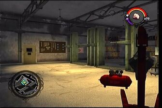 Donnie's second garage as it appears in Saints Row - interior work area