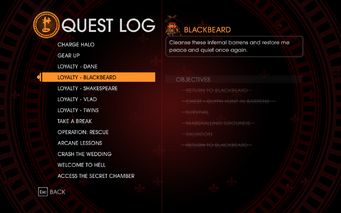 Gat out of Hell - Completed Quests - Loyalty - Blackbeard