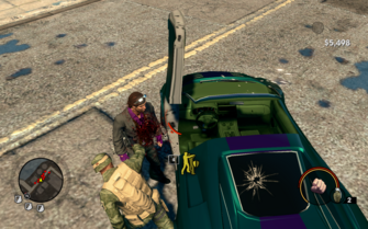 I'm Free - Free Falling - The crack used at the end of the cutscene appears on vehicles when shot