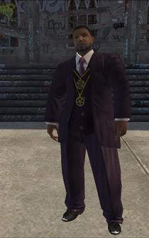 Pimp-02 - black - character model in Saints Row