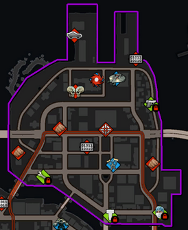 Henry Steel Mills map in Saints Row IV