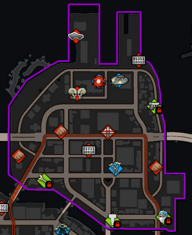 Henry Steel Mills map in Saints Row IV