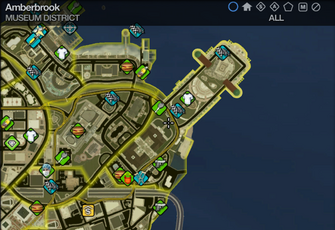 Map in Saints Row 2 - Museum - Amberbrook