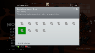 Saints Row Money Shot Achievement - Best Rating